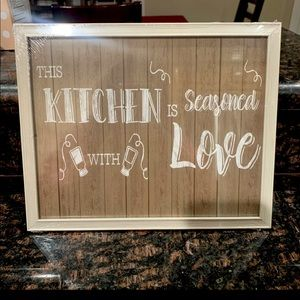 NEW This Kitchen Is Seasoned with love Wall Art